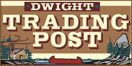 Dwight Trading Post and Algonquin Fudge Factory logo